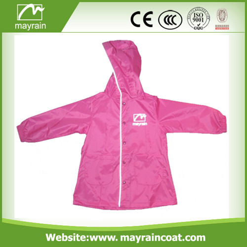 Unisex Design Polyester Raincoat for Kids