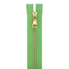 Non-lock Metal Gold Y Teeth Slider Zipper