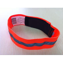High Visibility Elastic Reflective Band with Hook and Loop