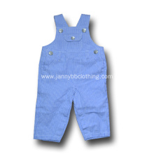 blue-and-white stripe cargo suspender pants