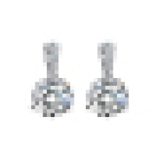 Women′s Fashion 925 Sterling Silver Sparkling Simple Crystal Earrings