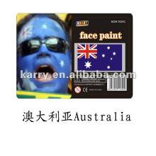 флаг лицо краской(Австралия),Китай лицо краской