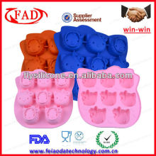 100% Food-grade Hello Kitty face Silicone lego cake mold