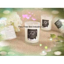 Vela perfumada hecha a mano de la soja para el hogar decorativo en tarro de cristal