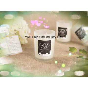 Vela de soja perfumada artesanal para casa decorativa em jarra de vidro