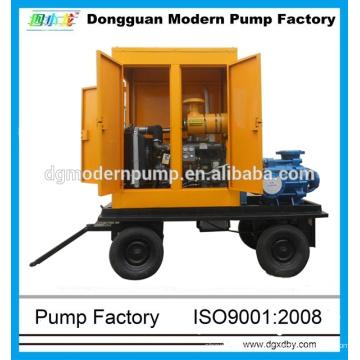 Pompe d'irrigation centrifuge diesel pour chariot à 4 roues série S