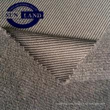 87% poliéster 13% Spandex melange tejido de punto único de lana