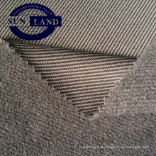 87% poliéster 13% spandex melange único jersey tecido de lã