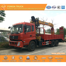 Good quality Dongfeng euro5 245hp truck mounted crane