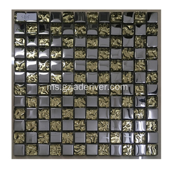 Gaya terbaru Crystal Mosaic Glass Tempered Glass
