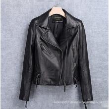 Натуральная Кожа Одежда Мотоцикл Куртка Женщин