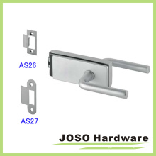 Stainless Steel Hollow Metal Frame Glass Door Lock Set (GDL019B-1)