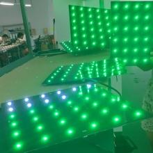 Parede de vídeo com painel LED RGB interativo de música