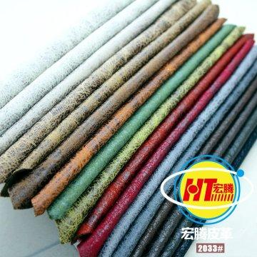 Couro sintético de PVC respirável eco-friendly para móveis de sofá (Hongjiu-2033 #)