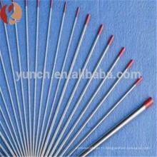 99.95% tungstène tige à vendre / fabricant de barres de tungstène / haute pureté tungstène barre ronde prix