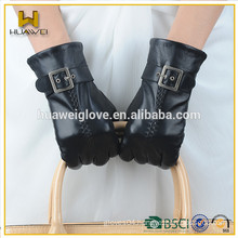High quality black fashion ladies leather gloves