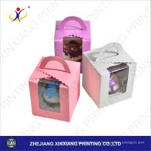 2017 personalizado impresso novo papel bolo caixas janela Design