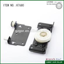Negro y hierro rodillo de puerta corredera para sistema de puerta corredera de madera