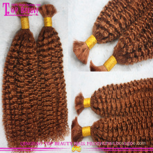 Wholesale kinky curly human hair bulk natural afro kinky human hair bulk