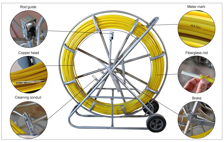Hot Sale Fiberglass Duct Rodding Fish Tape
