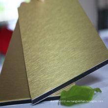 Panel de sándwich de aluminio cepillado de fuerza de impacto