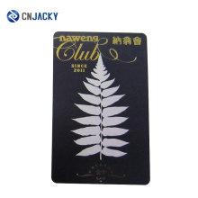 Custom Logo Hot Stamping Cartão de folha de ouro transparente com código QR ou painel de assinatura
