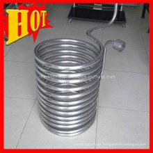 Bobina ASTM B338 Gr5titanium con precio de fábrica