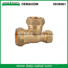 ISO9001 Certificated Brass Forged Compression Reducing Tee (AV7016)
