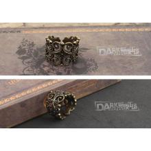 Charme anel flor oca design retro moda cor de cobre