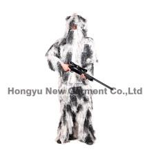 Modèle de camouflage à neige Fatigues Ghillie Suit for Hunting (HY-C004)