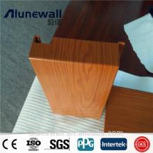 Panel compuesto de aluminio anodizado de alta calidad del grano de madera de ACP PE / PVDF cubierto