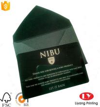 लक्जरी काले प्लास्टिक व्यापार कार्ड छपाई