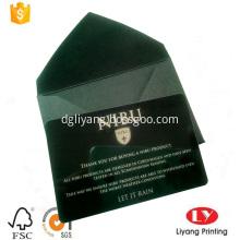 Luxury black plastic business card printing