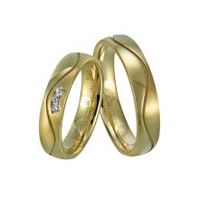 Elegant Titanium Wedding Anniversary Ring with CZ Stone