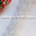 White Like Snow Faux Pearl Beaded Garland With 3+8MM Beads