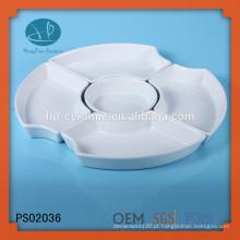 Material Cerâmico e Porcelana Cerâmica Tipo 5 pratos de jantar de compartimento, conjuntos de placas divididas