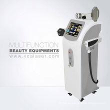 Cavitación ultrasónica + rf + ipl + elight + laser para el retiro del tatuaje del pelo Máquina multifuncional de la pérdida del peso
