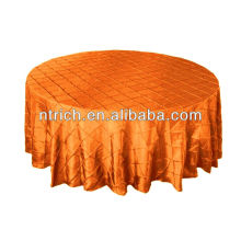 Graceful plaid table cloth, pintuck taffeta table cloth for banquet