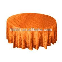 encantadora pintuck tafetá casamento mesa redondo/quadrado, champanhe pintuck tabela tampa de pano