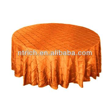 Toalha de mesa xadrez graciosa, toalha de mesa tafetá pintuck para banquete