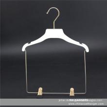 Kunststoff flach umfasst Kleiderbügel weichen Abschluss Kinder Mantel Set Clips Kleiderbügel