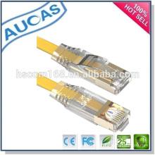 Cat5e utp rj45 cordon de câble falt de cuivre / systimax ampli pass flow cable plat plat / usine de porcelle ethernet cable de réseau