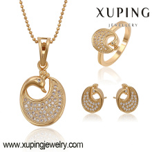 63773 Xuping fashion new designed gold plated women set with zircon