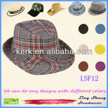 LSF12, 2014 Hot Sale Fashion Cheap cowboy vintage fedora hat