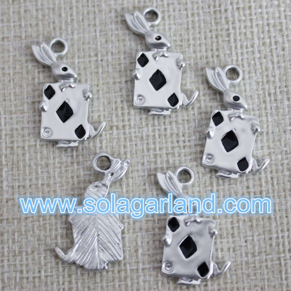 Playing Card Metal Pendants
