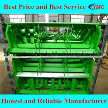 green spray paint CEMA conveyor roller frame