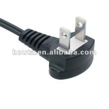 Adapvel japonés de 90 grados de cable de alimentación de CA