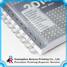 Klare Abdeckung Spiral Notizbücher PVC-Abdeckung Notebook