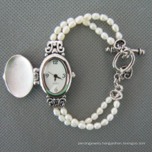 Freshwater Pearl Watch, Pearl Wristwatch (WH111)