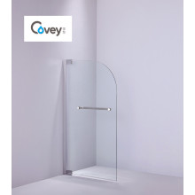 Curved Corner Tempered Glass Bathtub Screen (A-KW015)